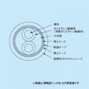フジクラ EM-CEES 5.5-3 600Vポリエチレン絶縁耐燃性ポリエチレンシースケーブル 切り売り