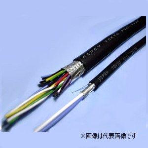 冨士電線 FCPEV-S 0.9-1P 着色識別ポリエチレン絶縁ビニルシースケーブル 編組遮へい付 1対 0.9mm 切り売り