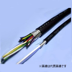 冨士電線 FCPEV-S 0.9-3P 着色識別ポリエチレン絶縁ビニルシースケーブル 編組遮へい付 3対 0.9mm 切り売り