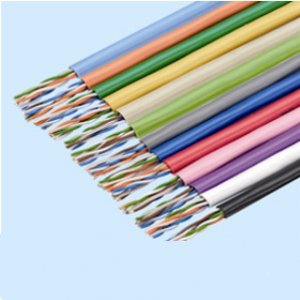冨士電線 TPCC5 0.5×4P LB エンハンストカテゴリー5ケーブル 4対 0.5mm 薄青(標準) 300m