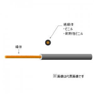 KANZACC KIV 14G 600V電気機器用ビニル絶縁電線 14平方mm 緑 切り売り