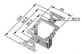 パナソニック BS80 安全ブレーカ用関連部品スイッチボックス用取付枠