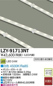 大光電機 LZY-91713NT LEDコンパクトライン照明(ACアダプタ付) L1250タイプ 白色 4500K