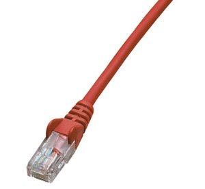 ジェフコム LCAT5E-S01RD ネットワークパッチケーブル 1m 赤(カテゴリー5e)