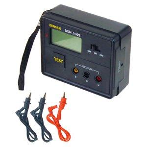 ジェフコム デンサン DDM-100S デジタル絶縁抵抗計 絶縁抵抗:最大200MΩ/100V