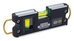 ジェフコム デンサン ML-16LED LEDライトレベル 磁石付(V字溝)