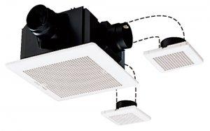 三菱電機 VD-18ZFVC2 ダクト用換気扇 天井埋込形 サニタリー用 定風量 2-3部屋用 24H換気機能付 180m3/h