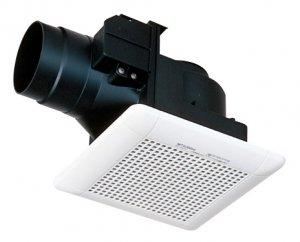 三菱電機 VD-10ZCD9 ダクト用換気扇 天井埋込形 サニタリー用 低騒音形 電気式シャッター付 90m3/h