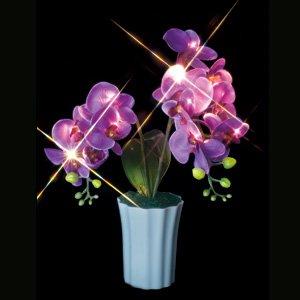 ジェフコム STM-J23V LEDフラワー(電池式) 蘭(紫)