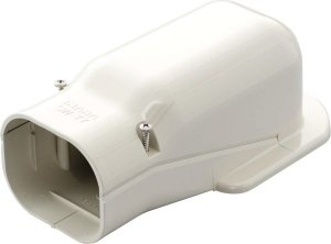 因幡電工 SW-77-W エアコン用配管化粧カバー 壁面取出し用 ダクトサイズ:77 色:ホワイト