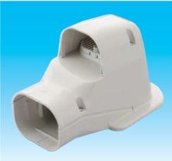 因幡電工 SWK-77N-W エアコン用配管化粧カバー 壁面取出し(換気)用 サイズ:77 色:ホワイト