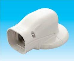 因幡電工 SWM-100-G エアコン用配管化粧カバー 壁面取出し(キャップ)用 サイズ:100 色:グレー