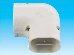 因幡電工 SK-100-G エアコン用配管化粧カバー 平面90°曲がり用 ダクトサイズ:100 色:グレー