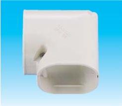 因幡電工 SKM-77-W エアコン用配管化粧カバー 平面90°曲がり ミニ ダクトサイズ:77 色:ホワイト