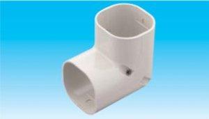 因幡電工 SC-66-I エアコン用配管化粧カバー 立面90°曲がり用 ダクトサイズ:66 色:アイボリー