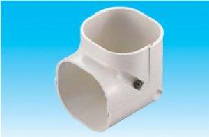 因幡電工 SCM-77-W エアコン用配管化粧カバー 立面90°曲がり ミニ ダクトサイズ:77 色:ホワイト
