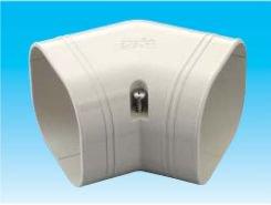 因幡電工 SKF-77-W エアコン用配管化粧カバー 平面45°曲がり用 ダクトサイズ:77 色:ホワイト