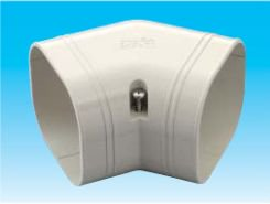 因幡電工 SKF-100-W エアコン用配管化粧カバー 平面45°曲がり用 ダクトサイズ:100 色:ホワイト