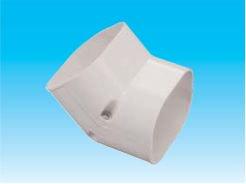 因幡電工 SCF-77-W エアコン用配管化粧カバー 立面45°曲がり用 ダクトサイズ:77 色:ホワイト