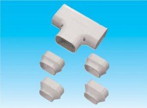 因幡電工 ST-100-G エアコン用配管化粧カバー 分岐継手用 ダクトサイズ:100 色:グレー