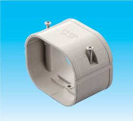 因幡電工 SJ-66-G エアコン用配管化粧カバー 直線ダクト継手用 ダクトサイズ:66 色:グレー