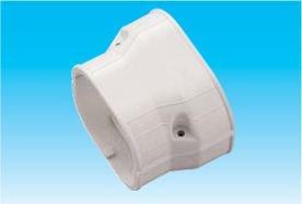 因幡電工 SDR-100-77-G エアコン用配管化粧カバー 異径ダクト継手 ダクトサイズ:100-77 色:グレー