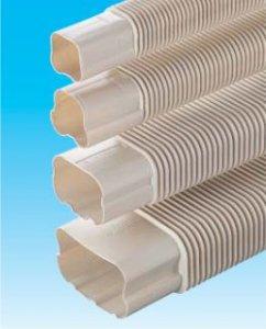 因幡電工 SF-66-500-K エアコン用配管化粧カバー 自在継手 ダクトサイズ:66 長さ:0.5m 色:ブラック