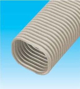 因幡電工 SF-66-2000-B エアコン用配管化粧カバー 自在継手 ダクトサイズ:66 長さ:2m 色:ブラウン