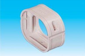 因幡電工 SFJ-66-K エアコン用配管化粧カバー ダクト継手 ダクトサイズ:66 色:ブラック