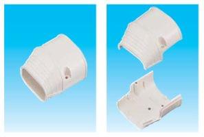 因幡電工 SEN-66-G エアコン用配管化粧カバー 端末カバー ダクトサイズ:66 色:グレー