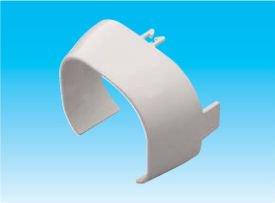 因幡電工 SDI-77-66-K エアコン用配管化粧カバー 異径アダプタ ダクトサイズ:66-77 色:ブラック