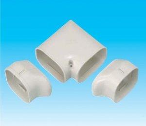 因幡電工 SN-77-I エアコン用配管化粧カバー ひねり90°エルボ ダクトサイズ:77 色:アイボリー