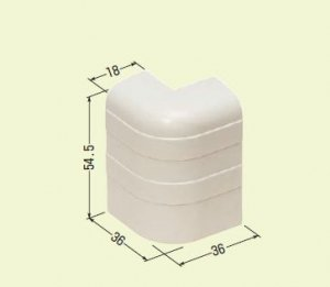 未来工業 PHMD-55T 巾木モール付属品 出ズミ チョコレート