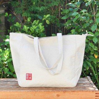 千糸繍院オリジナル インド綿帆布ナチュラルトートバッグ ショルダートート