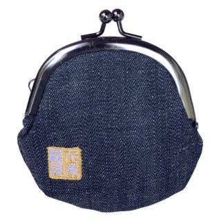 千糸繍院 がま口 2.5寸丸型財布/小銭入れ(裏地付き)  デニム3