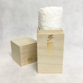千糸繍院 至高のタオル/フェイスタオル オリジナル桐箱入り (卯花白(ホワイト))