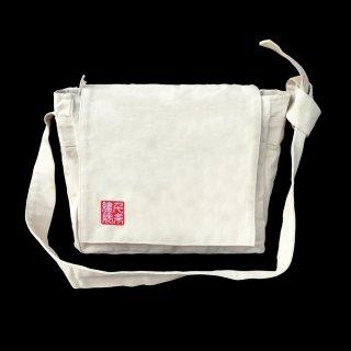 千糸繍院オリジナル インド綿帆布ナチュラルショルダーバッグ メッセンジャー