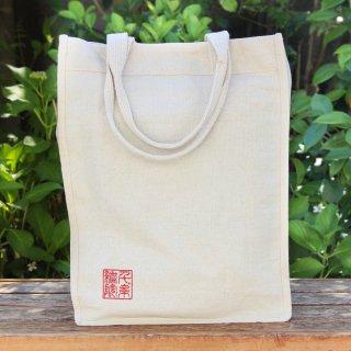 千糸繍院オリジナル インド綿帆布ナチュラルトートバッグ レクタングル・スイン