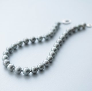 Pale gray tahitian necklace ペールグレイ黒蝶ネックレス