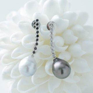 Black & White Drop earrings
