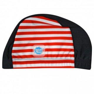 スイムキャップ / Navy Red Stripe
