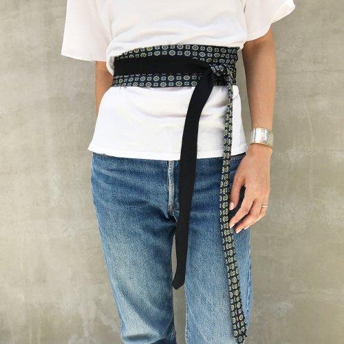 Vintage Tie Sashbelt Black_B