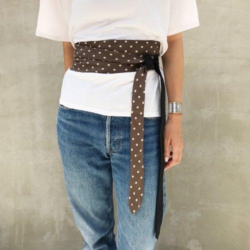 Vintage Tie Sashbelt Black_C