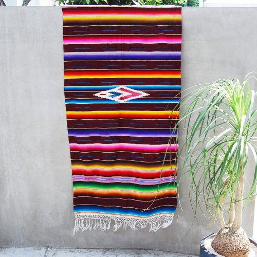 Vintage Mexican Rug Mat (brown)
