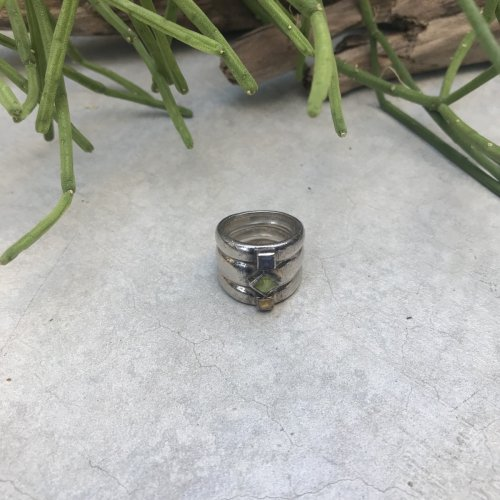 Vintage 3 Natural Stone  Ring