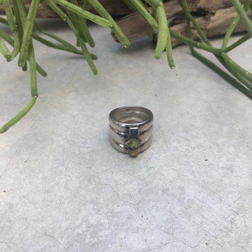 Vintage 3 Natural Stone  Ring