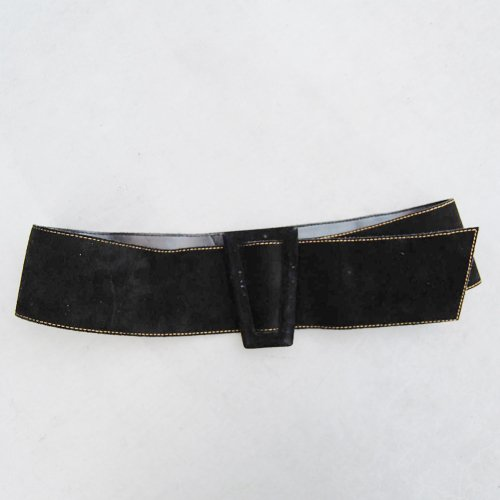 _Black Suede Belt