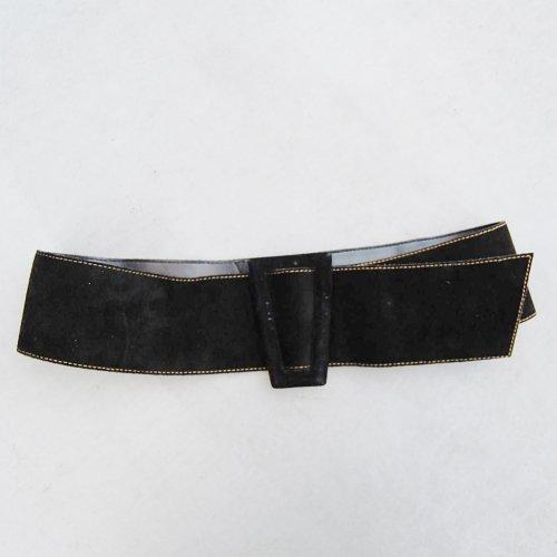 _Black Suede Belt