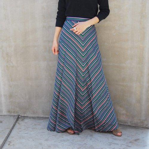 70s Stripe Skirt