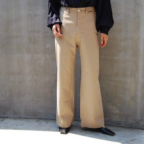Renga wide straight Pants_Beige